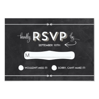 Casual Chalkboard RSVP Card