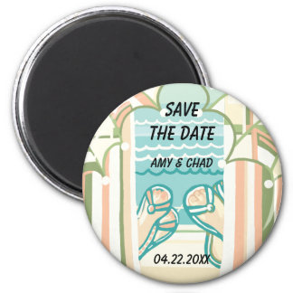 Casual & Colorful Beach Save the Date Magnet