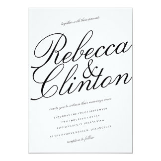 Shop Zazzle's selection of black and white wedding invitations for your special day!