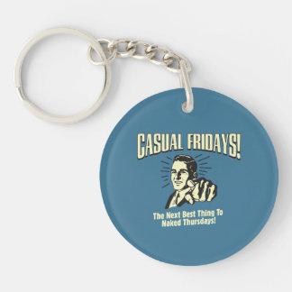Casual Fridays: Naked Thursdays Key Ring