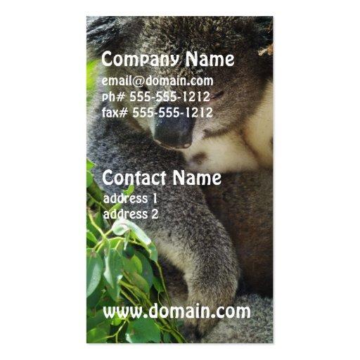 Casual Koala Business Cards