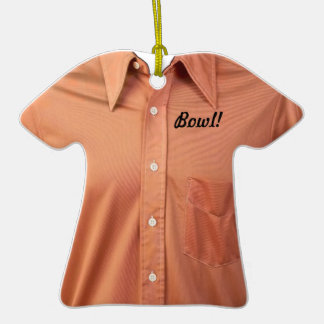 Casual Orange Collared Button Up Shirt Ornament