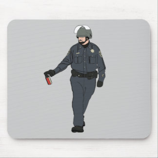 Casual Pepper Spray Cop in Color Mouse Pad