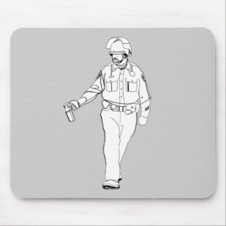 Casual Pepper Spray Cop Mousepads
