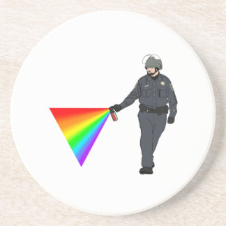 Casual Pepper Spray Cop Rainbow With Color Coaster