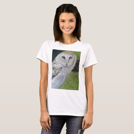 Casual tee shirt with owl design