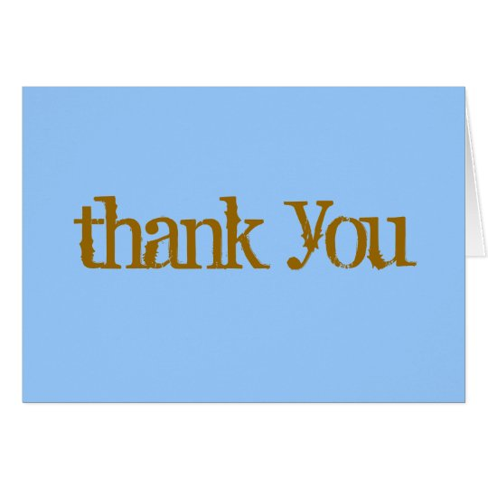 Casual thank you note blue/brown card
