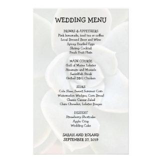 Casual Wedding Menu Succulent Image 14 Cm X 21.5 Cm Flyer