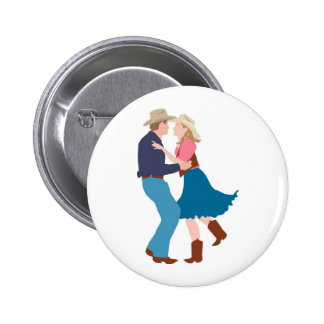 Casual Western Wedding Reception 6 Cm Round Badge