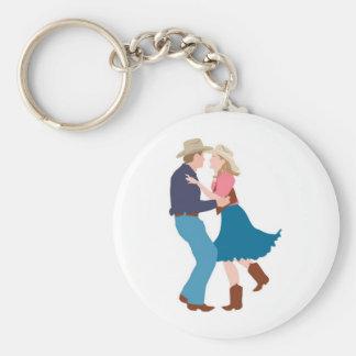 Casual Western Wedding Reception Key Ring