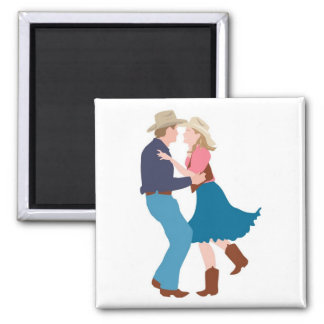 Casual Western Wedding Reception Square Magnet