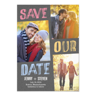 "Casually Chic Save The Date Card 5"" X 7"" Invitation Card"