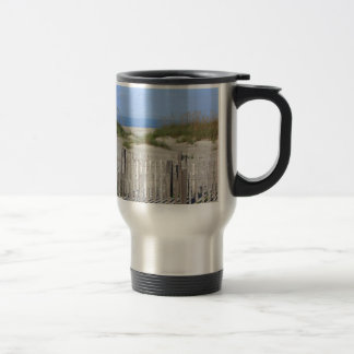 Caswell Beach, NC Land and Seascape Travel Mug