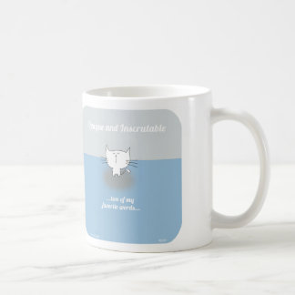CAT001 roger cat opaque inscrutable Coffee Mugs