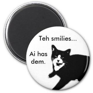 Cat2 6 Cm Round Magnet