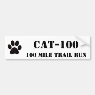 CAT-100, 100 Mile Trail Run Bumper Sticker