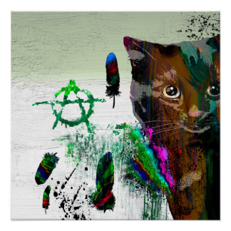 "Cat № 2  20"" x 20"", Poster Paper (Semi-Gloss)"