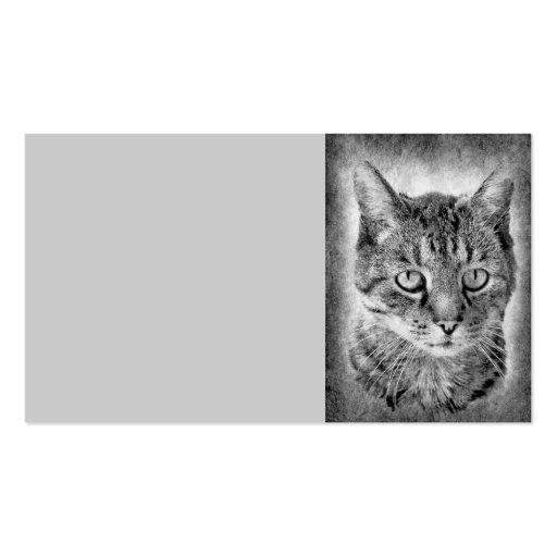 cat-315001 cat domestic cat black white proud brav business cards