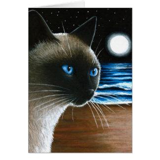 Cat 396 Siamese Card