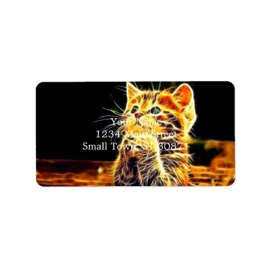 Cat 3d artworks address label