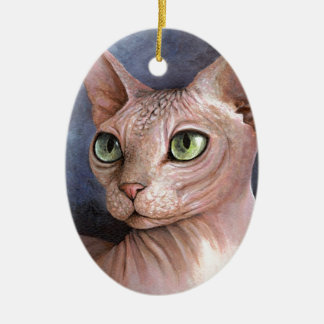 Cat 578 Sphynx Christmas Ornament