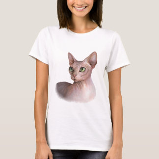Cat 578 Sphynx white background T-Shirt