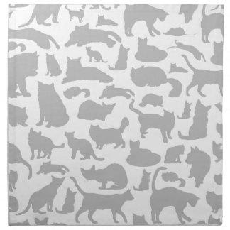 Cat a background napkin