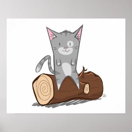 Cat a log - Poster