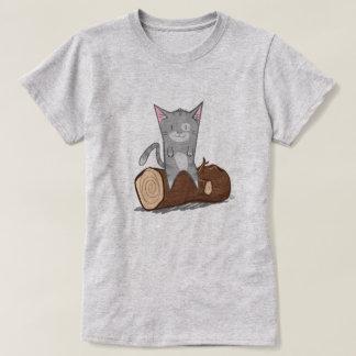 Cat a log - T-Shirt
