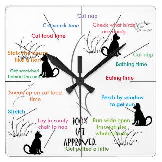 Cat Activity Funny Cats CricketDiane Square Wall Clock