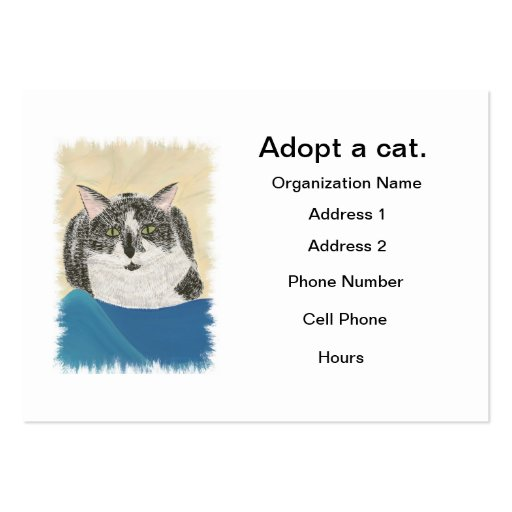 Cat adoption business cards Template