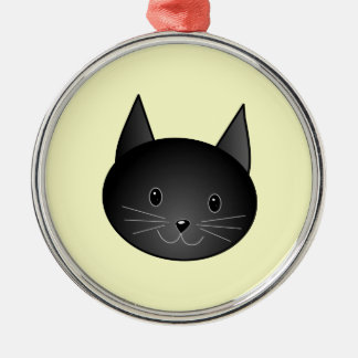 Cat. Adorable black kitty. Christmas Ornament