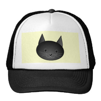 Cat. Adorable black kitty. Hat