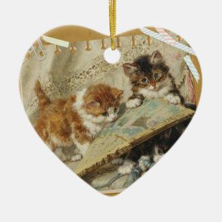 Cat album christmas ornament