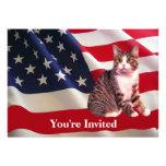 Cat All American Party Invitation