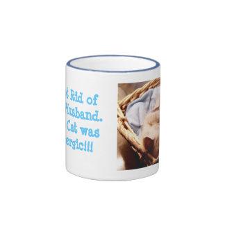cat allergic fun humor mug