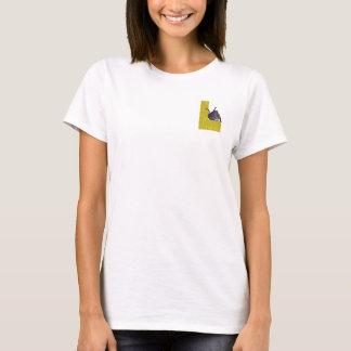 Cat Alphabet L T-Shirt Pocket Version