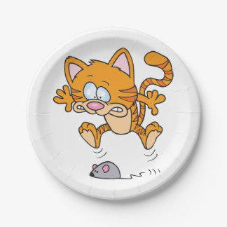 Cat And A Mouse Paper Plates