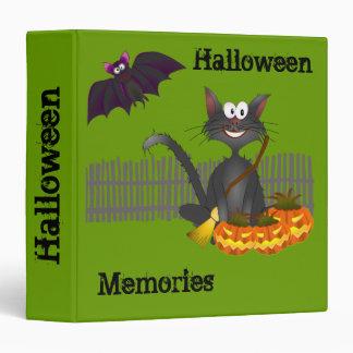 Cat and Bats Halloween Memories Binder