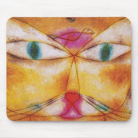 Cat and Bird - Abstract Art - Paul