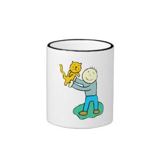 Cat And Boy Mug