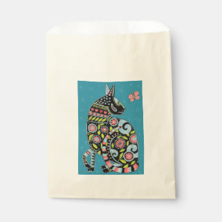 Cat And Butterfly Color Design Favour Bags