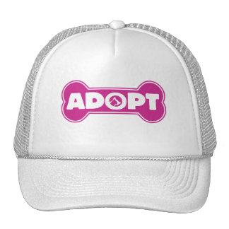 cat and dog adoption adopt bone trucker hat