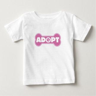 cat and dog adoption adopt bone infant T-Shirt