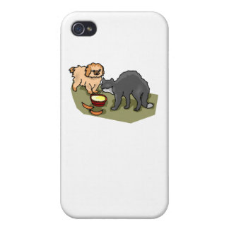 Cat And Dog iPhone 4/4S Cover