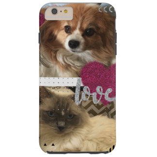 Cat and dog love tough iPhone 6 plus case