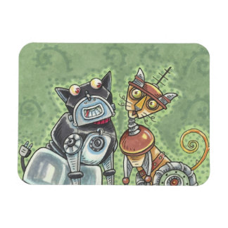 Cat And Dog Robots MAGNET *Customize