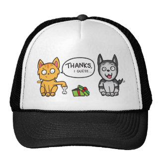 Cat and Dog Thanks Mesh Hat