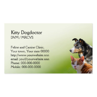 Cat and dog vet business pack of standard business cards