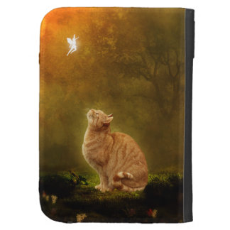 Cat And Fairy Kindle Keyboard Cases
